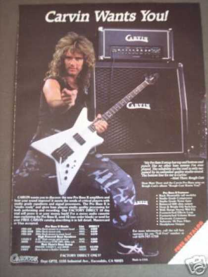 Matt Thorr Photo Carvin Bass Guitar Amp (1986)