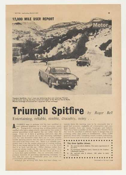Triumph Spitfire 12,000 Mi Report British Article (1965)