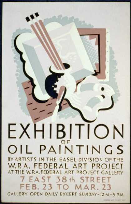 Exhibition of oil paintings by artists in the easel division of the W.P.A. Federal Art Project at the W.P.A. Federal Art Project Gallery. (1936)