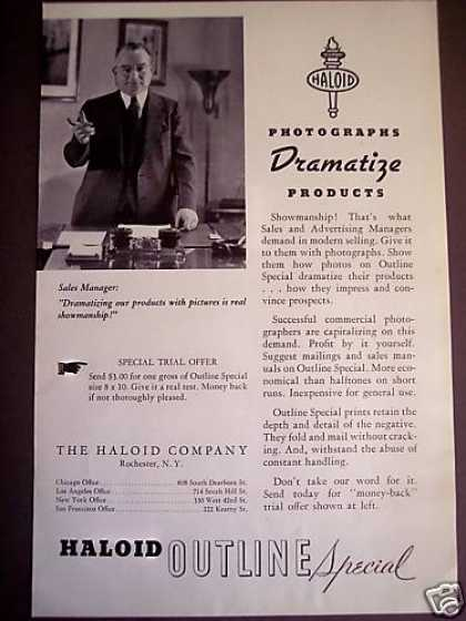 Haloid Photographic Paper (1938)