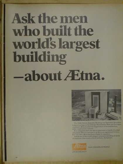 Aetna Life and Casualty. Ask the men who built the worlds biggest building (1968)