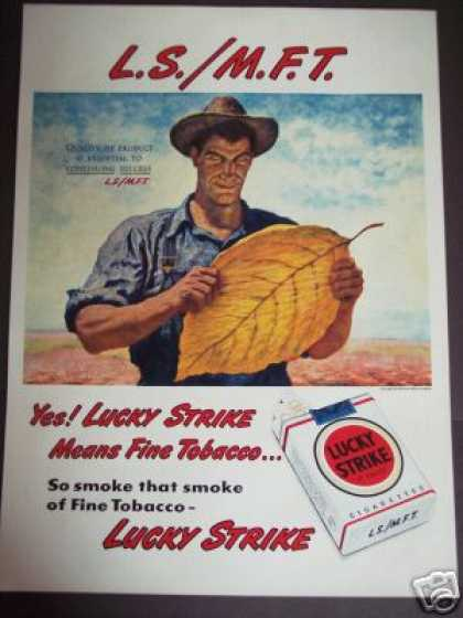 Tobacco Farmer L.s.m.f.t. Lucky Strike Art (1951)