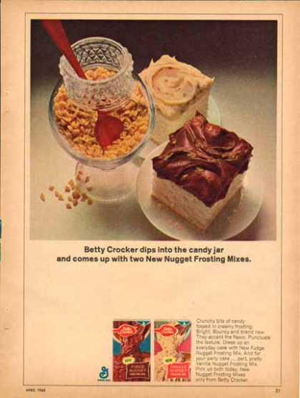 Betty Crocker Nugget Frosting Mix – You like (1965)