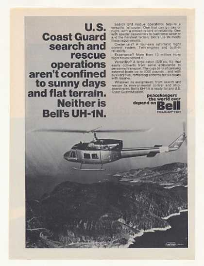 US Coast Guard Bell UH-1N Helicopter Photo (1974)