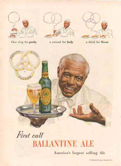 Ballantines Ale Color – The 3 Rings – Sold (1948)