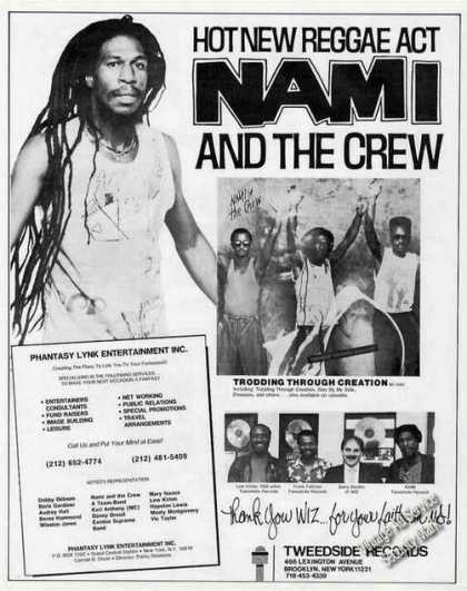 Nami and the Crew Photos Reggae (1987)