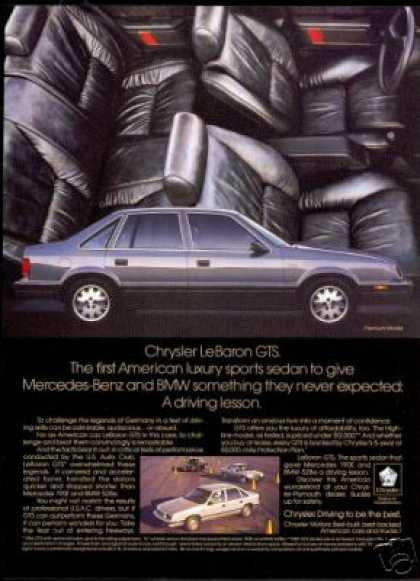 Chrysler Lebaron Le-Baron GTS Photo Print Car (1987)