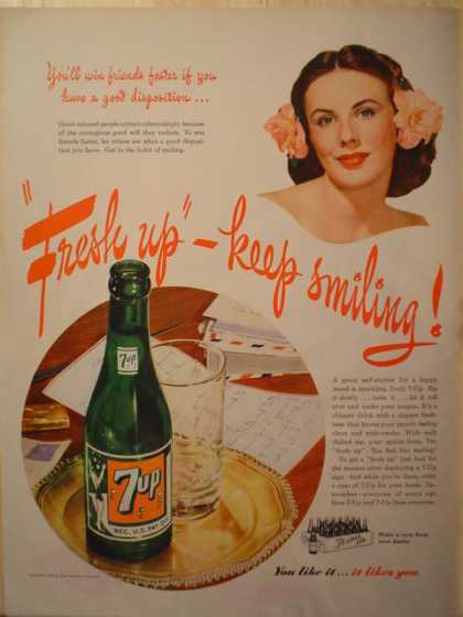 7up Fresh up keep smiling (1943)