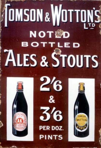 Tomson & Wootons Ales & Stouts