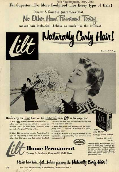 Procter & Gamble Co.'s Lilt Home Permanent – Lilt Naturally Curly Hair (1952)