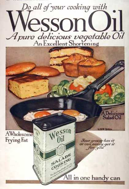 Wesson Cooking Oil (1918)