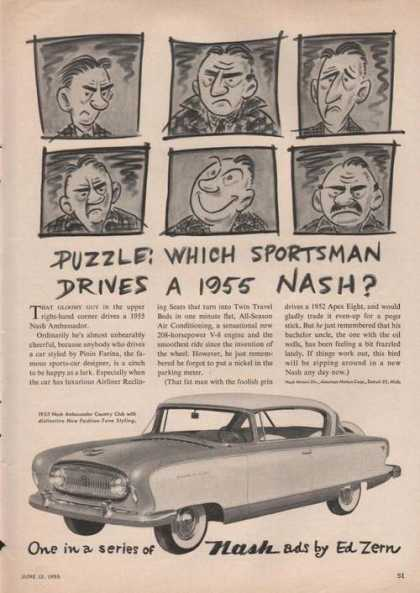 Which Sportsman Drives a Nash Car (1955)