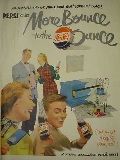Pepsi Cola Soda Gives more bounce to the ounce (1950)