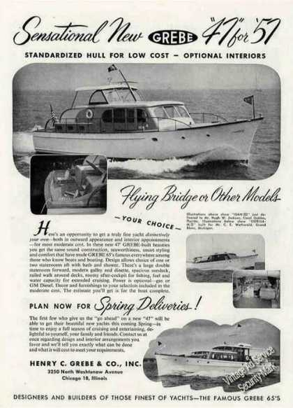 Grebe 47' Boat Photos (1957)