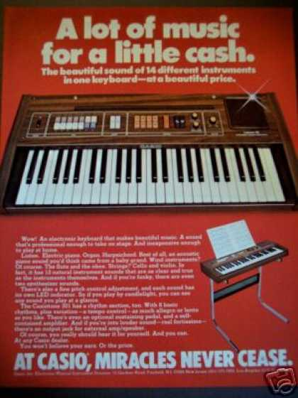 Casio 14 Sounds Keyboard (1981)