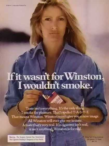 Winston – Women of Winston Cigarette – If it wasn't for Winston (1974)