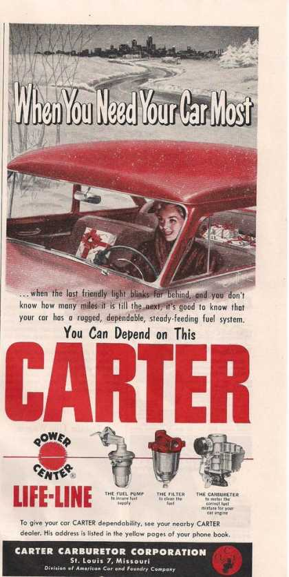 Carter Fuel Pump & Carbureter (1953)