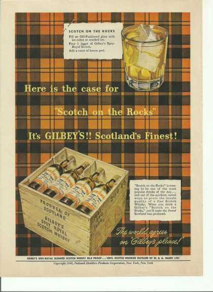 Gilbeys Scotlands Finest Scotch (1949)