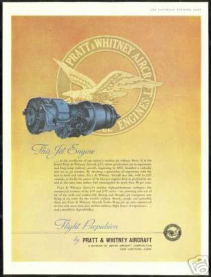 Pratt Whitney Aircraft J-57 Jet Airplane Engine (1959)