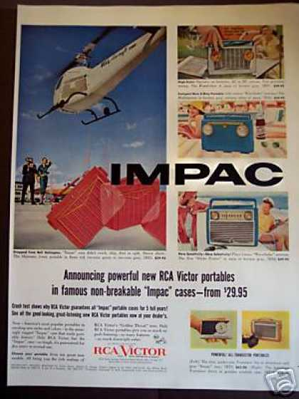 "Rca ""Impac"" Case Radios Dropped From Helicopter (1956)"