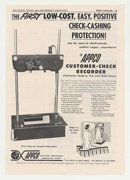 APPCO Customer Check Recorder Machine (1957)