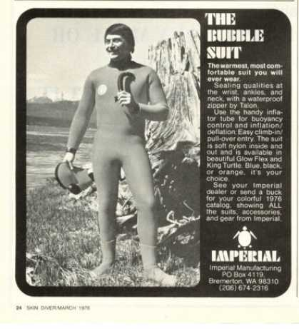 Imperial Bubble Suit Scuba Dive (1976)