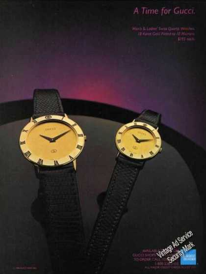 Gucci Wristwatches Fashion (1985)