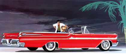 Mercury Park Lane convertible in Flamingo Red (1958)