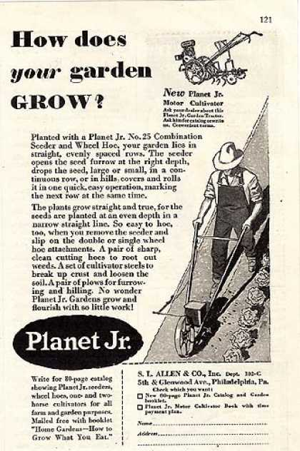 Planet Jr.'s No. 25 Combination Seeder and Wheel Hoe – How does your garden grow? (1930)