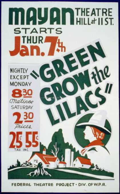 """Green grow the lilacs"". (1937)"