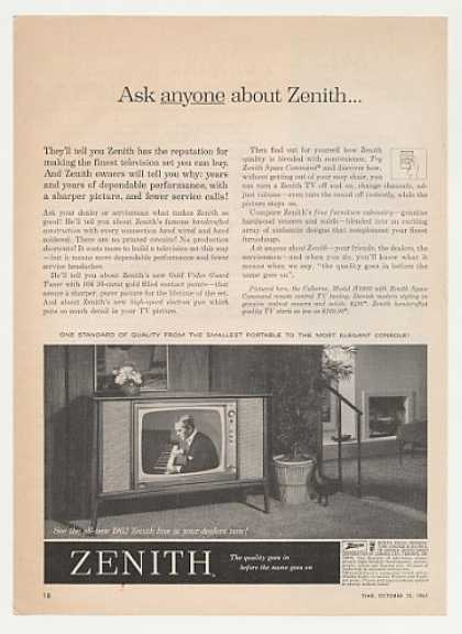 Zenith Colborne Model H3360 TV Television (1961)
