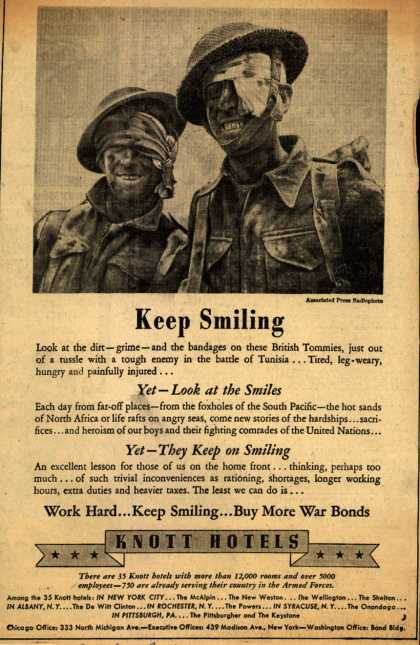 Knott Hotel's War Bonds – Keep Smiling (1943)