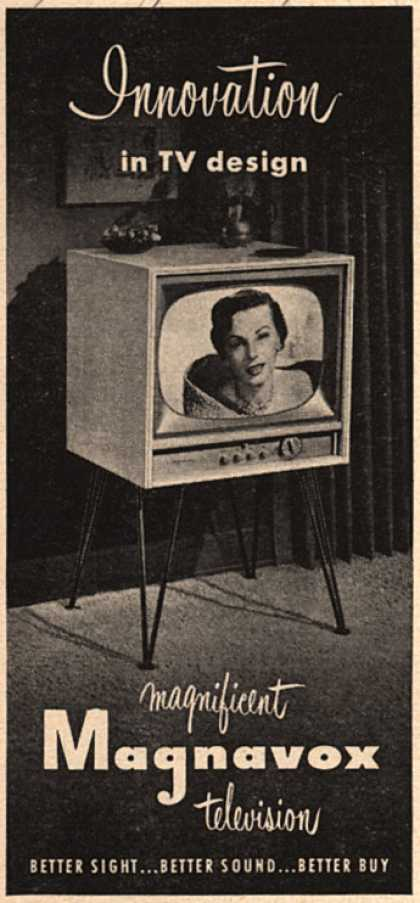 Magnavox Company's Television – Innovation in TV design (1953)