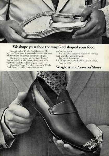 Wright Arch Preserver Shoes Cutaway (1972)