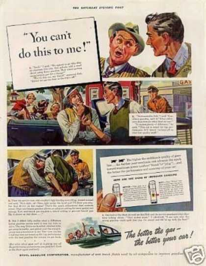 "Ethyl Gasoline Ad ""You Can't Do This... (1940)"