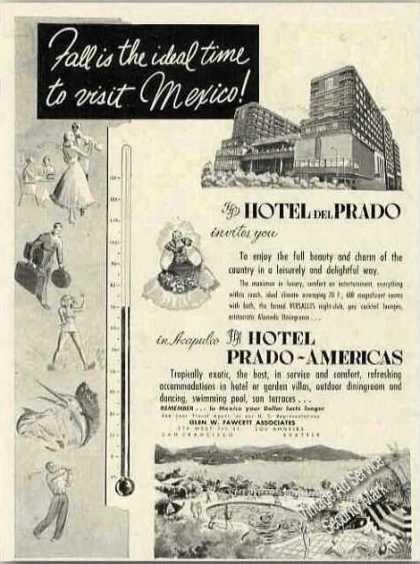 Hotel Del Prado Acapulco Mexico Antique (1953)