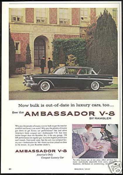 Rambler Ambassador V-8 Black Pink Photo Vintage (1960)