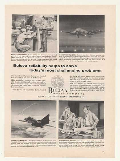 Bulova Watch Co Missile Aircraft Components (1958)
