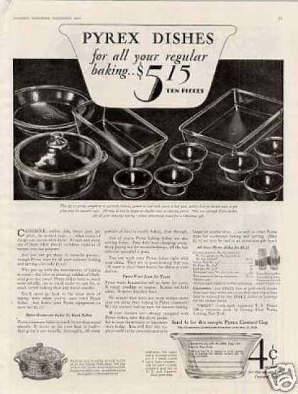 Pyrex Dishes (1928)