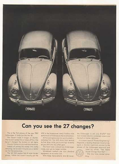 VW Volkswagen Beetle Bug 27 Changes for 1961 (1960)