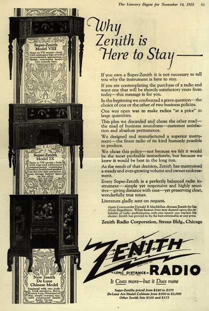Zenith Radio Corporation's Various – Why Zenith is Here to Stay (1925)