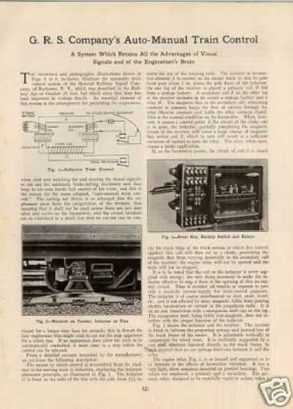 """Grs Company's Auto-manual Train Control"" Article (1922)"
