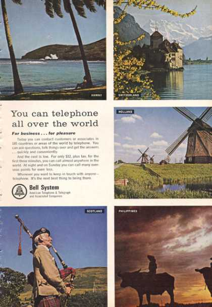 Bell System Telephone Phone Hawaii Holland (1966)
