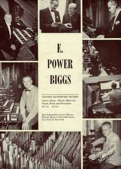 E. Power Biggs Photos Organist Trade (1963)