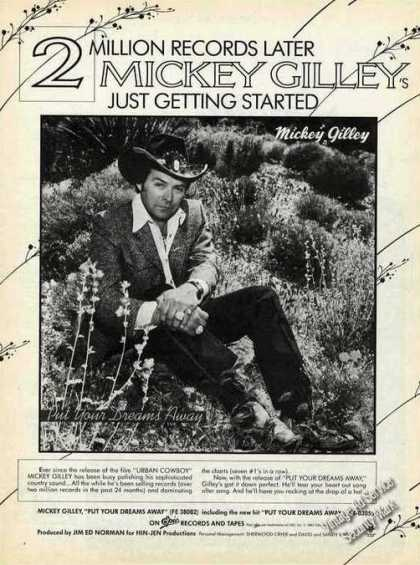 """Mickey Gilley Photo """"Put Your Dreams Away"""" (1982)"""