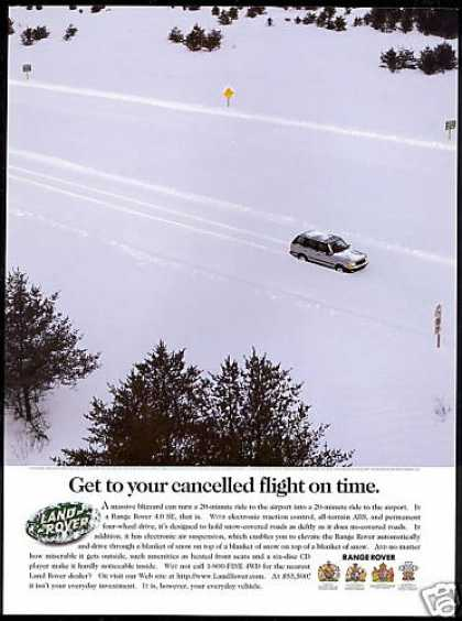 Land Range Rover 4WD Cancelled Flight Photo (1998)