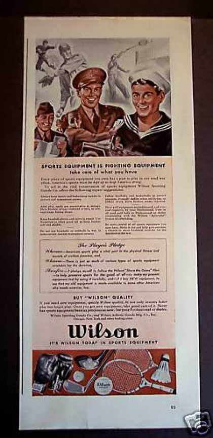 Wilson Sports Equipment In War Effort Wwii (1942)