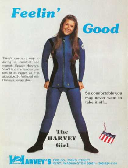 Harveys Girl Woman Scuba Diving Suit (1976)