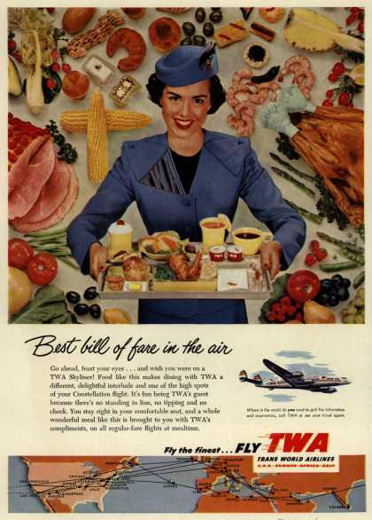 Trans World Airline's Skyliner – Best bill of fare in the air (1953)