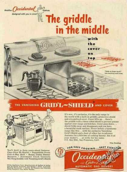 Occidental Gas Ranges San Francisco Ca (1953)